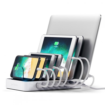 Зарядная станция Satechi 7-Port USB Charging Station Dock, White фото 1