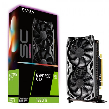 Видеокарта EVGA GeForce GTX 1660 Ti SC ULTRA GAMING 6144Mb (06G-P4-1667-KB) фото 1