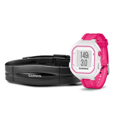 Garmin FORERUNNER 25 HRM Small - White/Pink фото 1