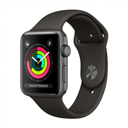 Умные часы Apple Watch S3 GPS 42mm Space Gray Aluminium Case with Gray Sport Band (MR362) фото 1