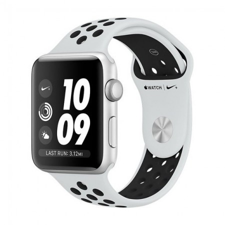 Умные часы Apple Watch S3 Nike+ GPS 42mm Silver Aluminium Case with Pure Platinum/Black Nike Sport Band (MQL32) фото 1
