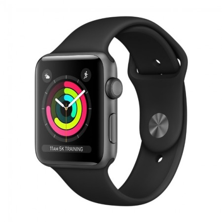 Умные часы Apple Watch S3 GPS 42mm Space Gray Aluminium Case with Black Sport Band (MQL12/MTF32) фото 1