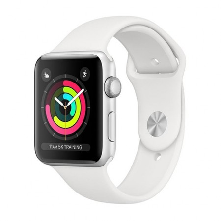 Умные часы Apple Watch S3 GPS 38mm Silver Aluminium Case with White Sport Band (MTEY2) фото 1