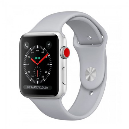 Умные часы Apple Watch S3 GPS+Cellular 38mm Silver Aluminium Case with Fog Sport Band (MQJN2) фото 1