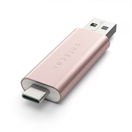 Карт-ридер Satechi Aluminum Type-C USB 3.0 and Micro/SD Card Reader, Rose Gold