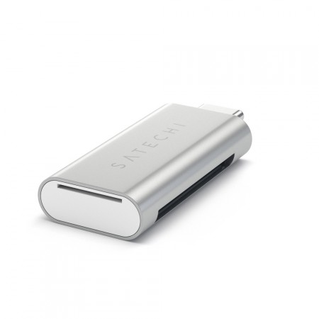 Карт-ридер Satechi Aluminum Type-C Micro/SD Card Reader, Silver