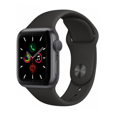 Часы Apple Watch Series 5 GPS 44mm Aluminum Case with Sport Band Серый Космос/Черный (MWVF2) фото 1