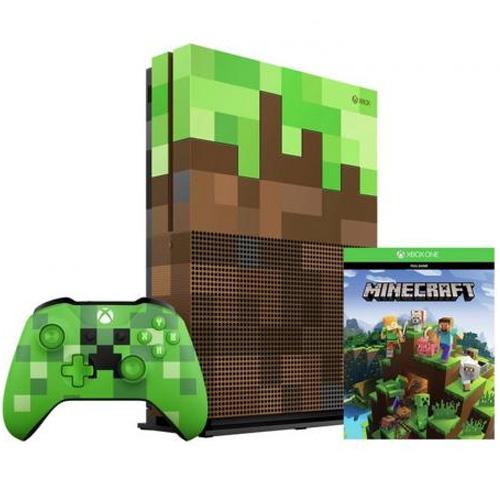 Игровая приставка Microsoft Xbox One S 1Tb + Minecraft (Limited Edition)  фото