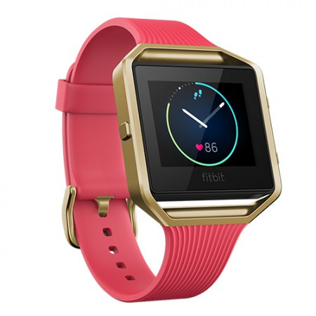 Браслет Fitbit Blaze Special Edition Slim Pink / 22k Gold Plated - Large фото 1