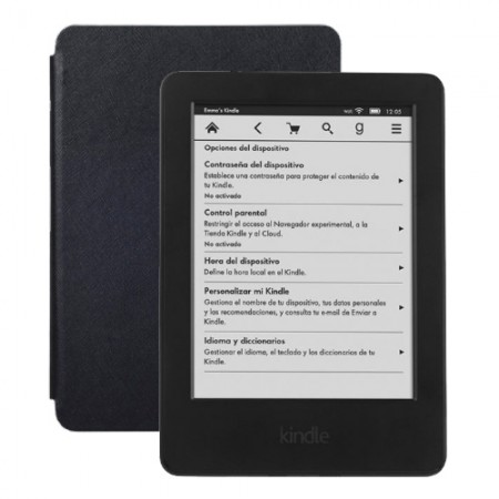 Электронная книга Amazon Kindle 6 + Обложка skinBOX Black (KN-004) фото 1