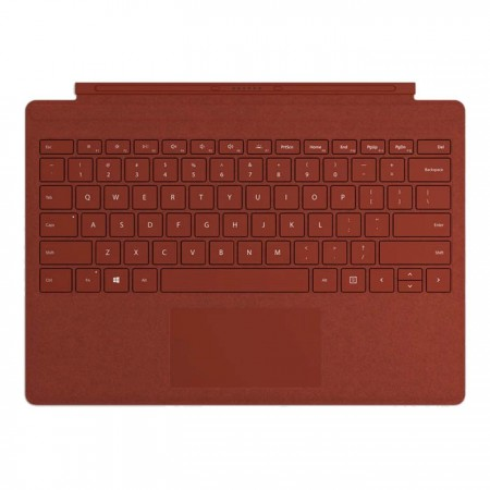 Клавиатура Microsoft Surface Pro Signature Type Cover (Alcantara), Poppy Red для Pro 5, 6, 7 фото 1