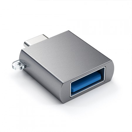 Адаптер Satechi Aluminum Type-C to USB 3.0 Adapter, Space Gray фото 1