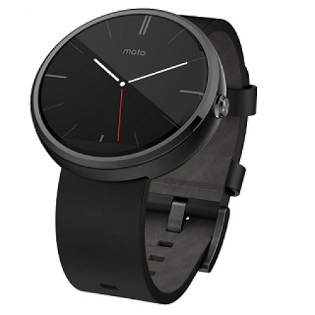 Умные часы Motorola Moto 360 Black Leather фото 1