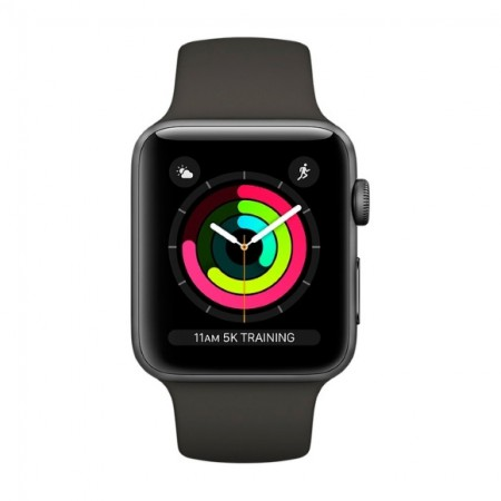 Умные часы Apple Watch S3 GPS 42mm Space Gray Aluminium Case with Gray Sport Band (MR362) фото 2