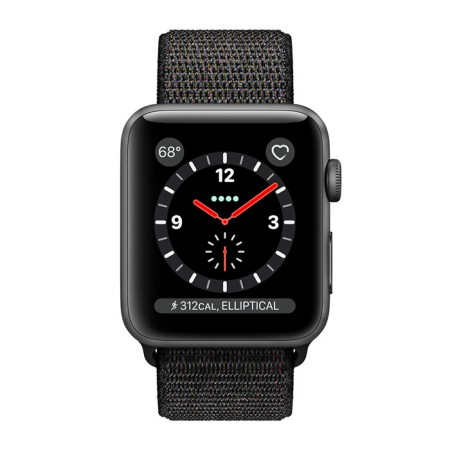 Умные часы Apple Watch S3 GPS+Cellular 42mm Space Gray Aluminum Case with Black Sport Loop (MRQF2) фото 2