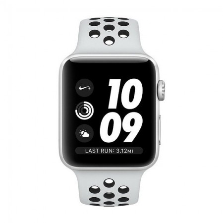 Умные часы Apple Watch S3 Nike+ GPS 42mm Silver Aluminium Case with Pure Platinum/Black Nike Sport Band (MQL32) фото 2