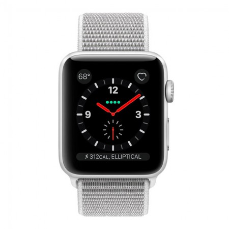 Умные часы Apple Watch S3 GPS+Cellular 42mm Silver Aluminum Case with Seashell Sport Loop (MQK52) фото 2