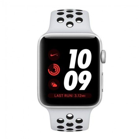 Умные часы Apple Watch S3 Nike+ GPS+Cellular 42mm Silver Aluminum Case with Pure Platinum/Black Nike Sport Band (MQLC2) фото 1