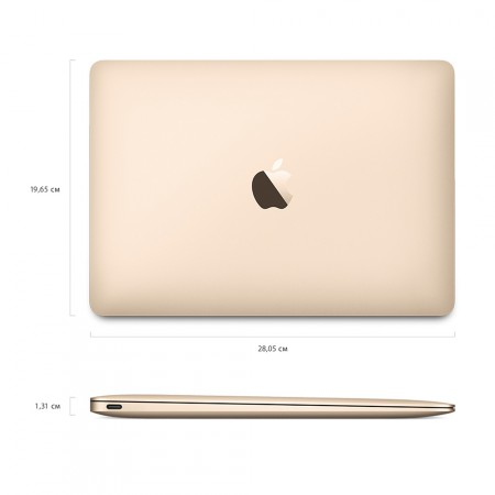 "Ноутбук Apple MacBook 12"" 2017 MNYL2 (Intel Core i5 1300 MHz/8GB/512GB/Intel HD Graphics 615/Gold) фото 6"