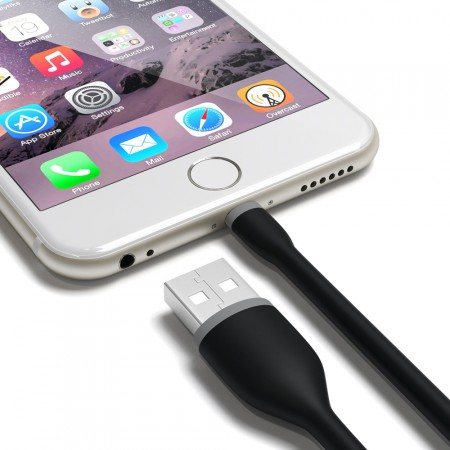 Кабель Satechi Flexible Lightning to USB Cable, Black, 15 см фото 4