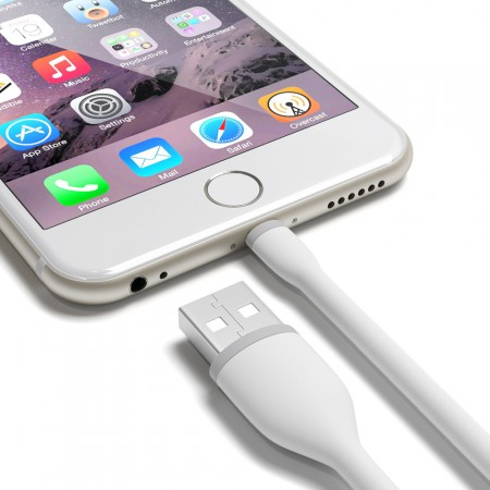 Кабель Satechi Flexible Lightning to USB Cable, White, 15 см фото 4