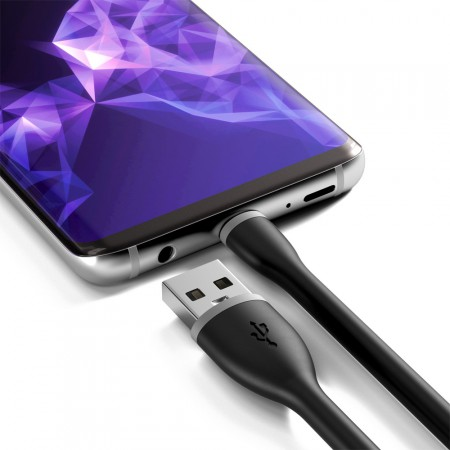 Зарядный кабель Satechi Type-C Flexible USB Charging Cable, Black, 15 см фото 4