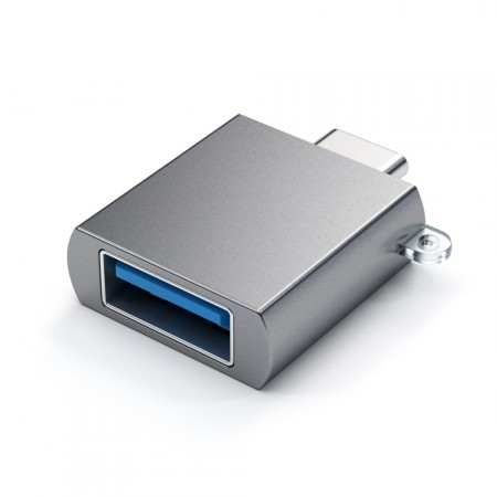 Адаптер Satechi Aluminum Type-C to USB 3.0 Adapter, Space Gray фото 2