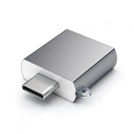 Адаптер Satechi Aluminum Type-C to USB 3.0 Adapter, Space Gray фото 3