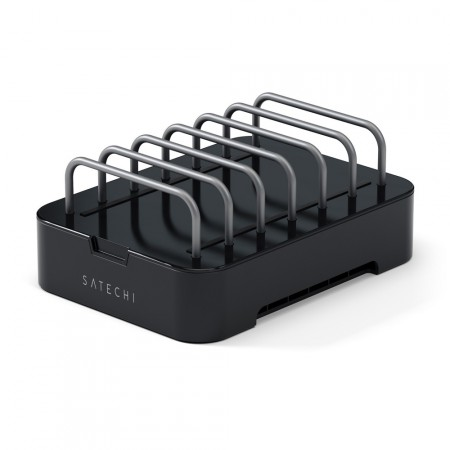 Зарядная станция Satechi 6-Port Customizable Media Organizer, Black фото 1