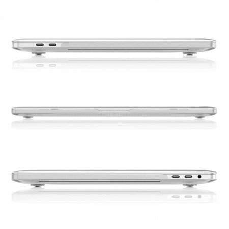 Защитная накладка HardShell Case for MacBook Pro 15/16 (A1707), Clear фото 1