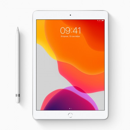 "Планшет Apple iPad 10.2"" 2019 128Gb Wi-Fi Silver фото 1"