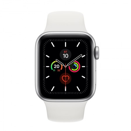 Часы Apple Watch Series 5 GPS 40mm Aluminum Case with Sport Band Серебристый/Белый (MWV62) фото 1