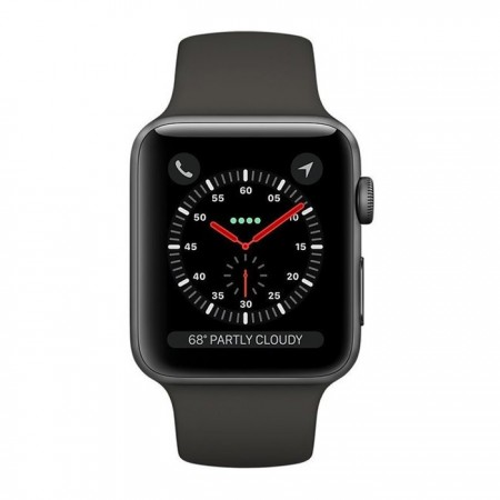 Умные часы Apple Watch S3 GPS+Cellular 42mm Space Gray Aluminum Case with Gray Sport Band (MTGT2) фото 1