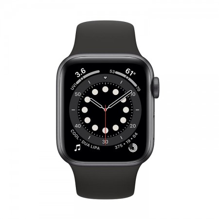 Часы Apple Watch Series 6 40mm Aluminum Case with Sport Band Space Gray/Black (Серый космос/Черный) MG133 фото 1