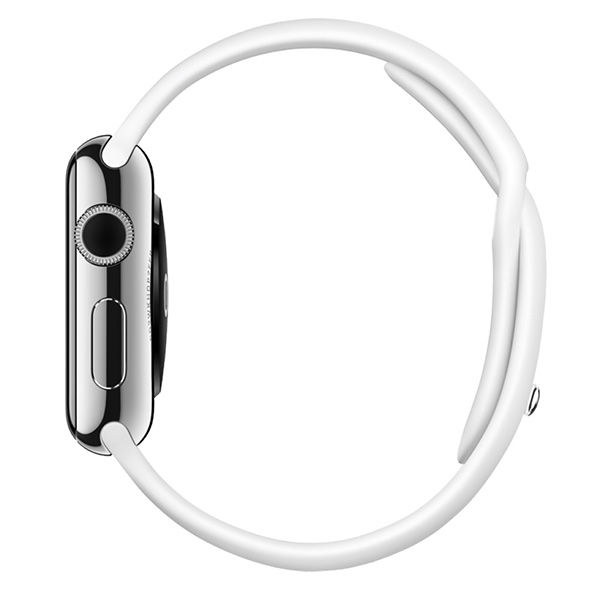 Умные часы Apple Watch Nike+ 42mm Silver Aluminum Case with Flat Silver/Volt Nike Sport Band (MNYQ2)  фото