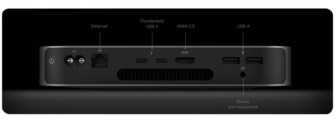 Неттоп Apple Mac Mini 2020 (MGNT3) Tiny-Desktop/Apple M1/8 ГБ/512 ГБ SSD/Apple Graphics 8-core/OS X фото