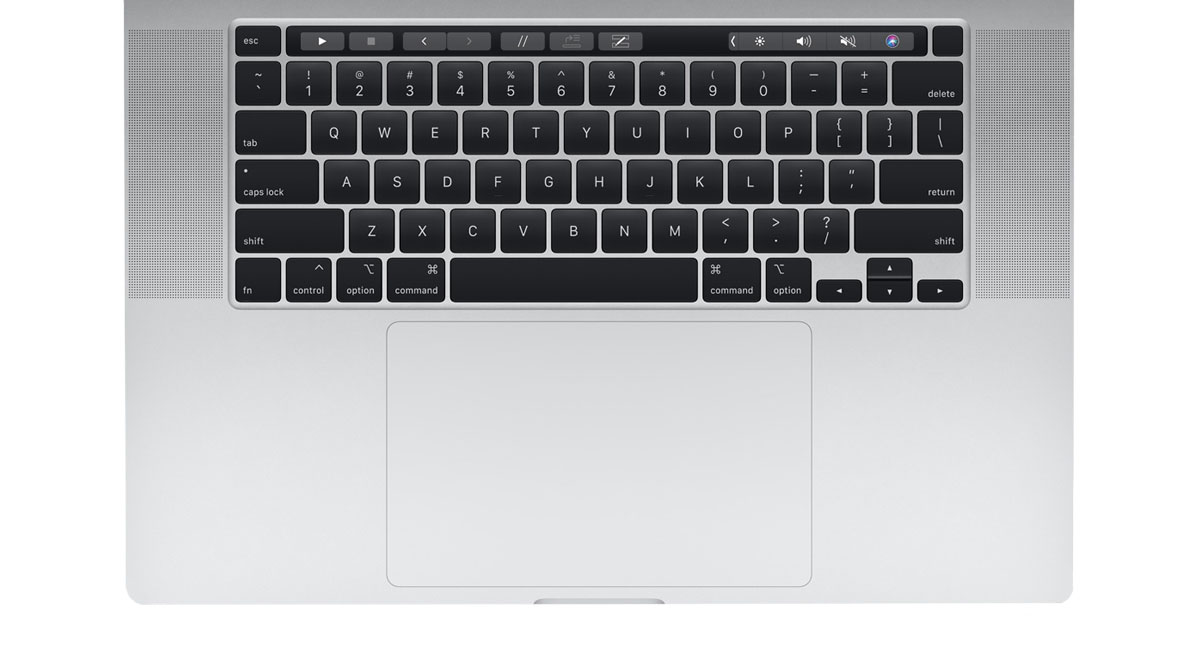 "Ноутбук Apple MacBook Pro 16 with Retina display and Touch Bar Late 2019 MVVL2 (Intel Core i7 2600 MHz/16 ""/3072x1920/16GB/512GB SSD/DVD нет/AMD Radeon Pro 5300M/Wi-Fi/Bluetooth/macOS) «Серебристый»  фото"