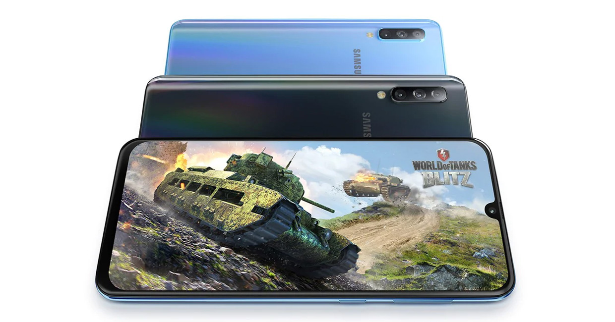 Смартфон Samsung Galaxy A70 (2019) 128Gb Blue  фото