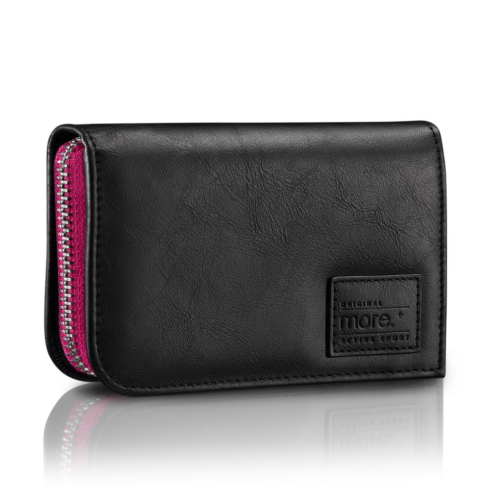 Чехол Carri Zipper Wallet for iPhone 5S(Black/Fuchsia)  фото