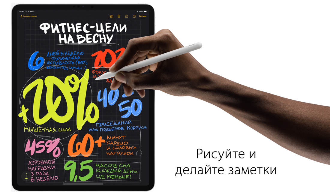 Стилус Apple Pencil для iPad Pro