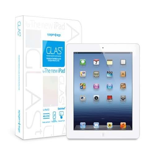 Пленка SGP The new iPad 4G LTE / Wifi Screen Protector GLAS.t Premium Tempered Glass Series  фото