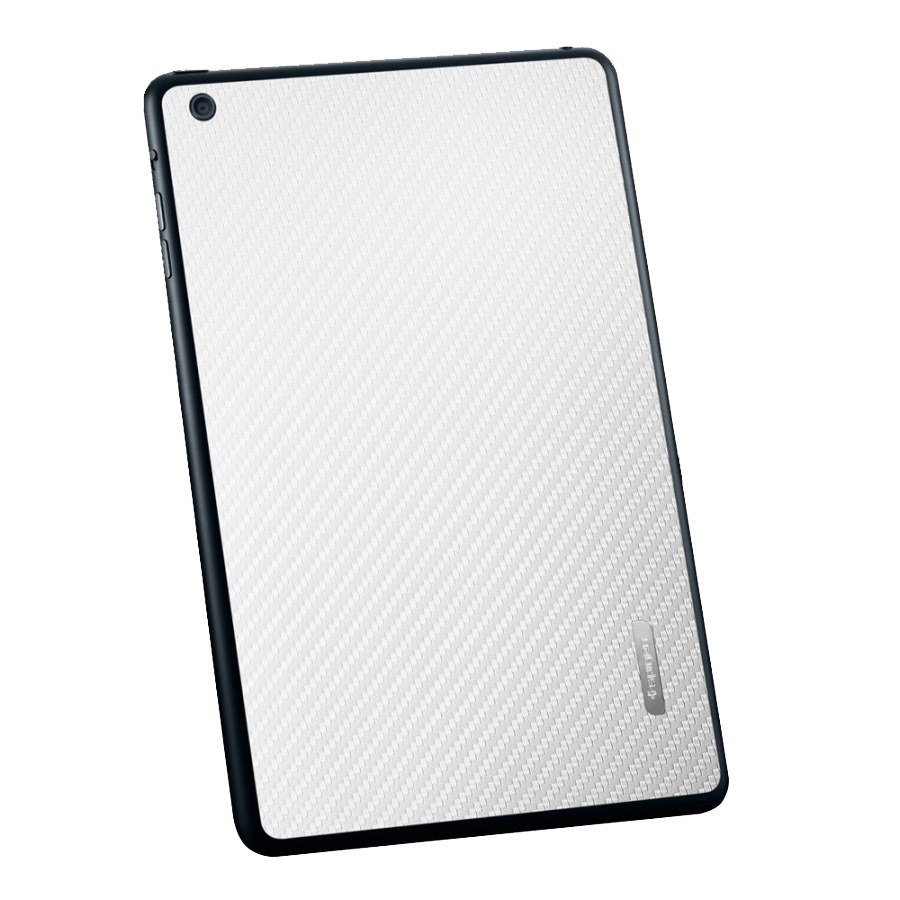 Пленка iPad Mini Skin Guard Set (Carbon pattern white)  фото