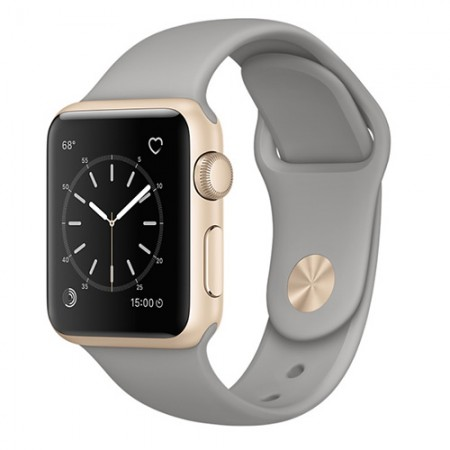 Умные часы Apple Watch Series 1 38mm Gold Aluminum Case with Concrete Sport Band (MNNJ2)