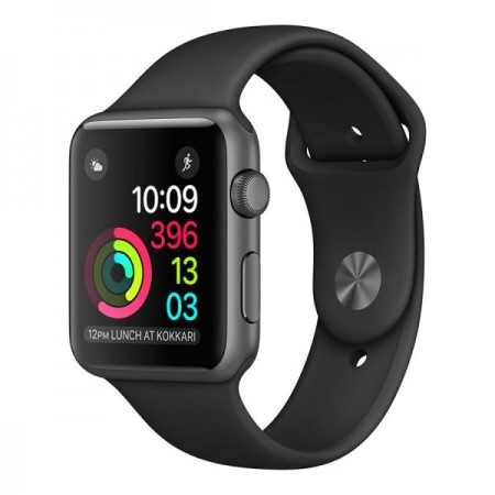 Умные часы Apple Watch Series 1 42mm Space Gray Aluminum Case with Black Sport Band (MP032)
