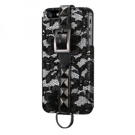 Чехол Glam Rocka Exclusive for iPhone 5S (Lace/Black)