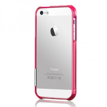 Чехол Color Gem Lucent for iPhone 5S (Fuchsia)