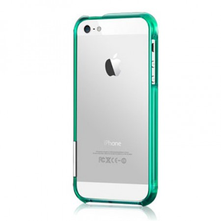 Чехол Color Gem Lucent for iPhone 5S (Emerald)