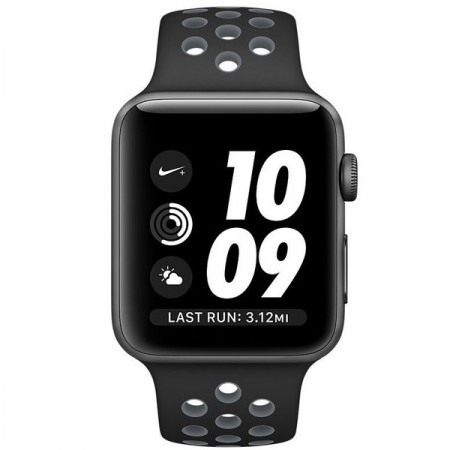 Умные часы Apple Watch Nike+ 38mm Space Gray Aluminum Case with Black/Cool Gray Nike Sport Band (MNYX2)